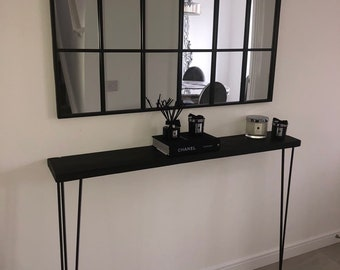 Norfolk Narrow Side Table Black