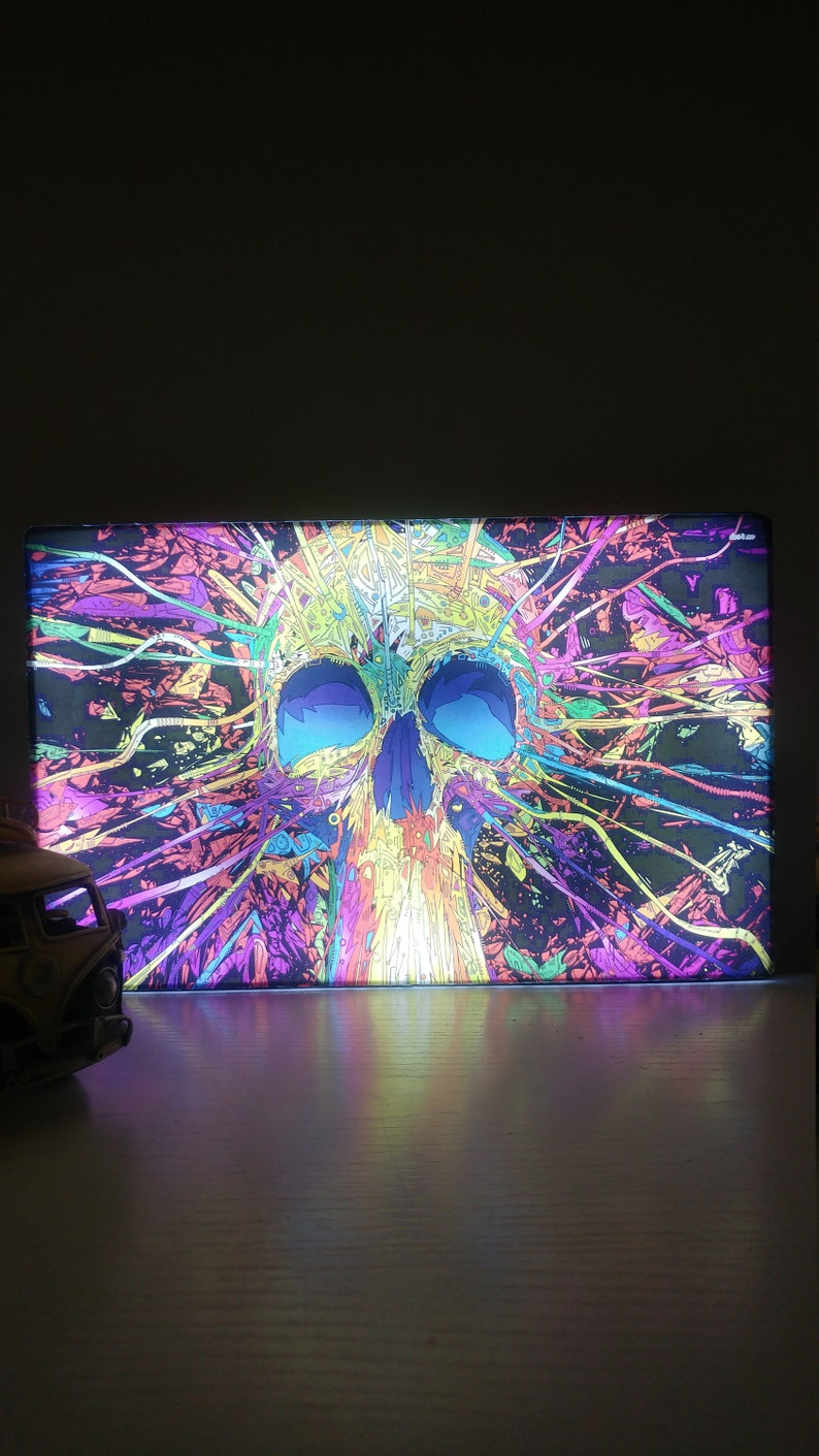 Sci Fi Skull Desing  Wall Hangings with LED Light for Home and Living Decor Vintage and Modern Designs That will Add Light to Your Home