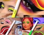 Neon Eyeliner Liquid Pigment Neon Eyeshadow Blacklight Glow in the dark Liquid Pigment Water proof liner