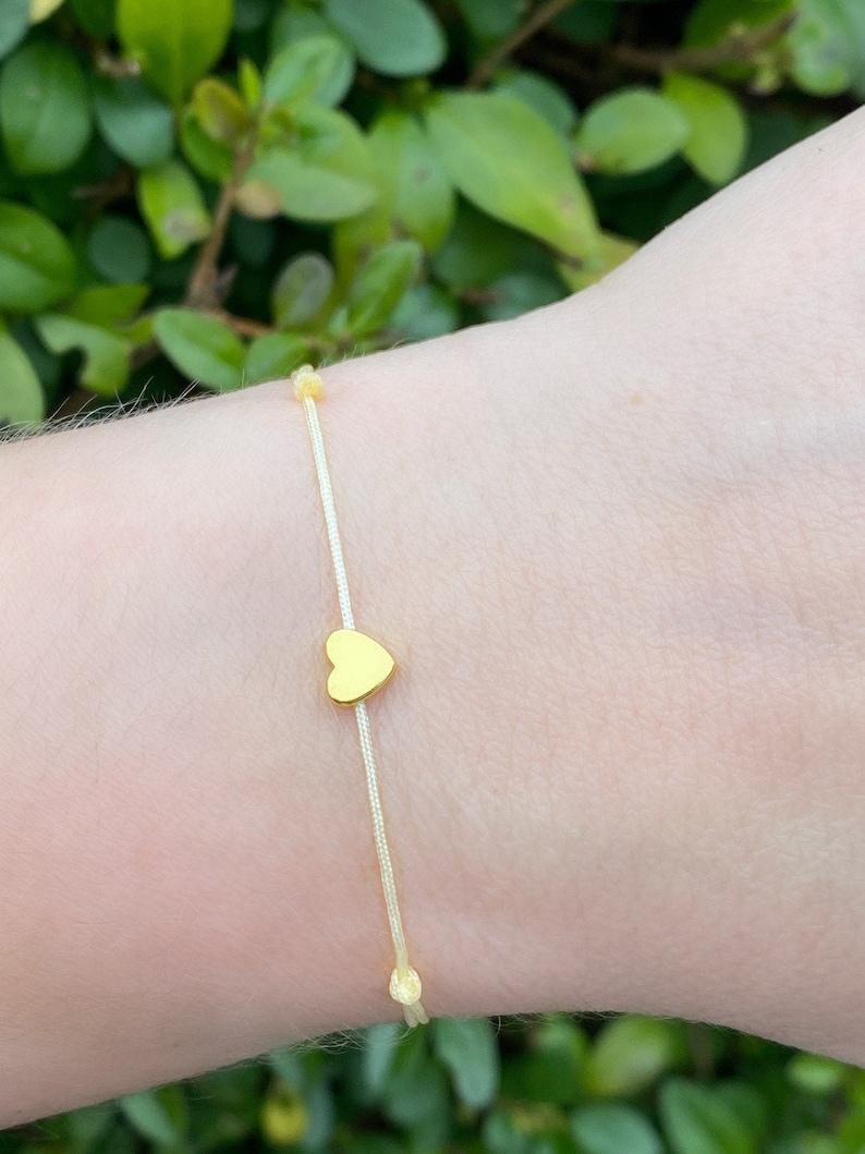 Mother/'s Day Gift Hand Made Minimalist Macrame Heart Hematite Bracelet