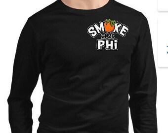 Smokephi Long Sleeve Tee on Black