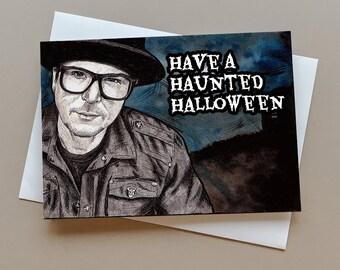 Zak Bagans Ghost Adventures Halloween card, Haunted greeting card, halloween gift, spooky card, Zak Bagans fan gift