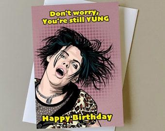 Yungblud birthday card, gift for Yungblud fan, greeting card for music fans, music birthday gift, personalised card, Yungblud birthday gift