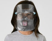 Halloween Kids Costume   Pet Theme Costume   Kitty Cat Face Shield  
