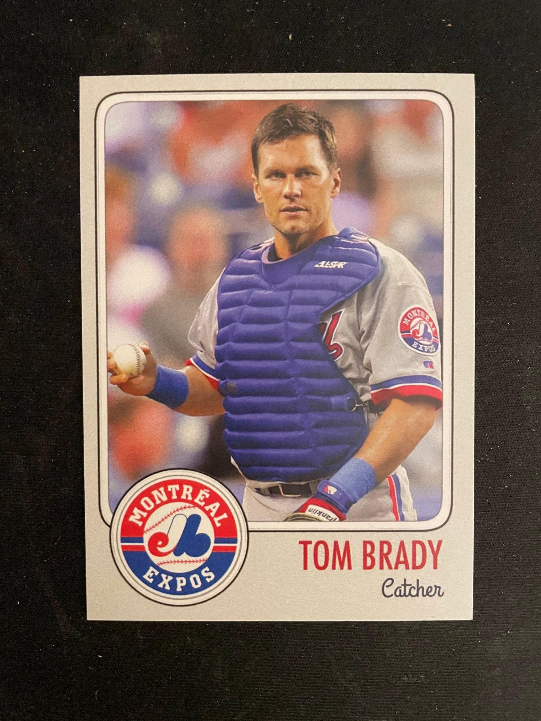 Tom Brady 1995 MLB Draft Rookie Card Montreal Expos