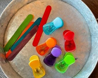 Color Clip Busy Bag - Busy Bags - Preschool Toddlers Tot School Fine Motor