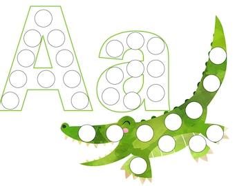 Animal Alphabet Dot Marker Worksheets - Toddler School - Preschool - Kindergarten - Toddler Curriculum