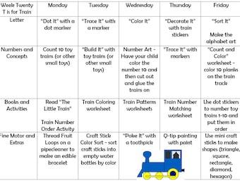 Letters T-Z Toddler Curriculum Bundle- Tot School Curriculum - Toddler School - Toddler Alphabet Learning Preschool Letter of the Week