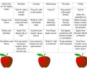 Toddler School Curriculum Bundle! A-Z Four Bundles Plus Alphabet Craft Bonus Letter of the Week Preschool Alphabet