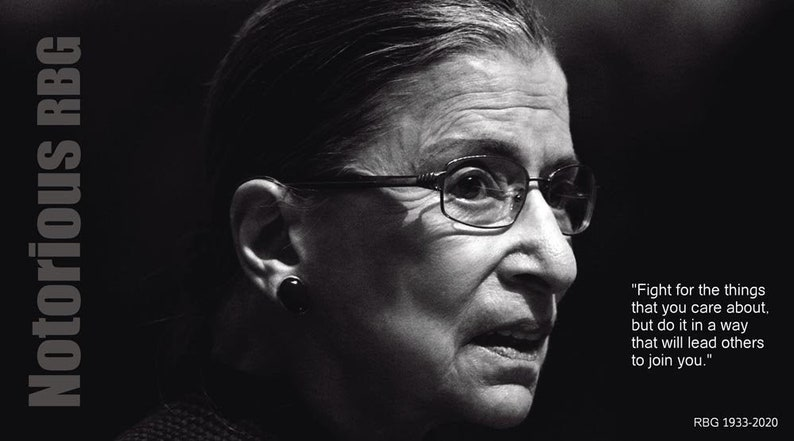 Canvas Print Acrylic Image Notorious RBG justice of the Supreme Court Ruth Bader Ginsburg Print