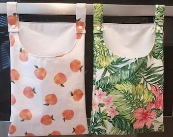 Reusable Paper Towel Laundry Bag. Hanging Kitchen Waterproof Liner Bag.