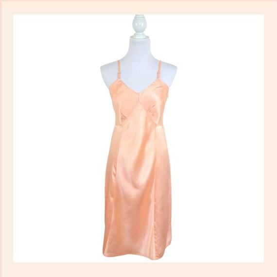 Vintage Small Pink Peach Nightgown Slip Dress