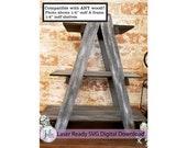 Ladder Tier Tray Laser ready SVG digital download