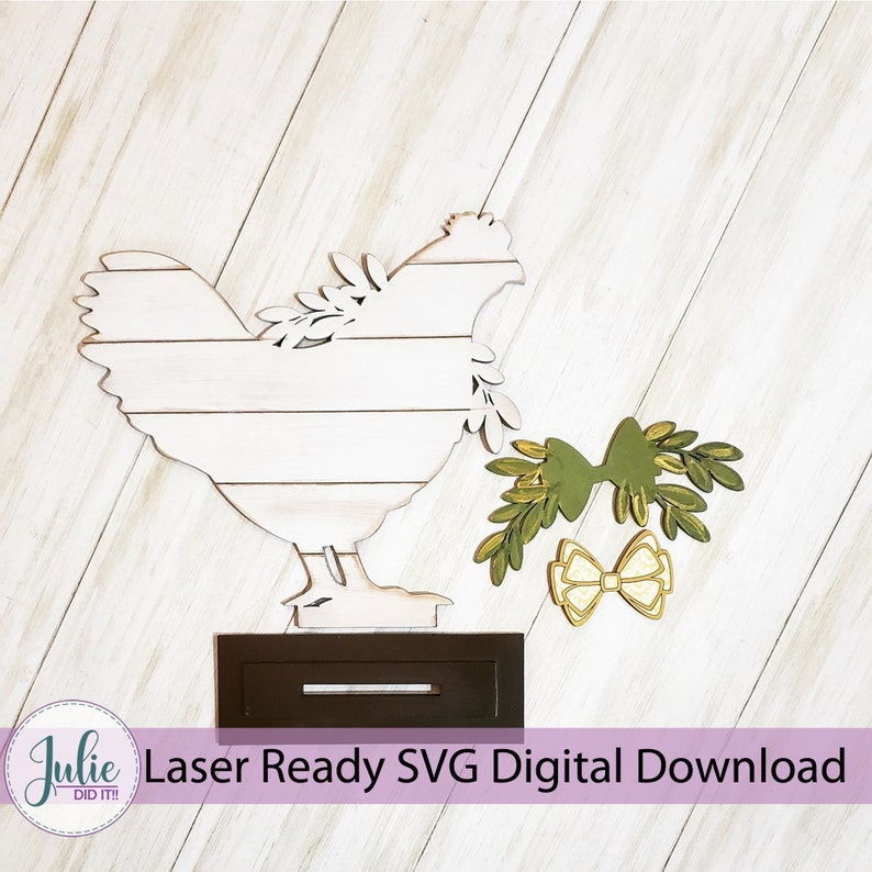 Chicken Shiplap Shelf Sitter