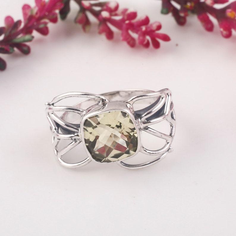 Anniversary Ring Statement Ring Valentine Gift Gift For Him Lemon Topaz Ring Gemstone Ring Vintage Ring Handmade Ring Silver Ring