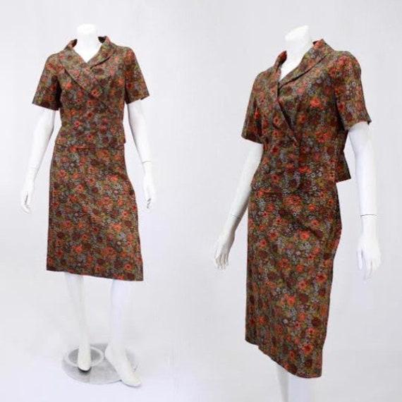 1960s Womens Suit - Cotton Suit - Vintage Summer S