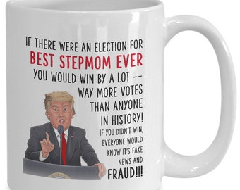 Donald Trump Stepmum Funny Mug Christmas Details about  /Gift for STEPMOTHER
