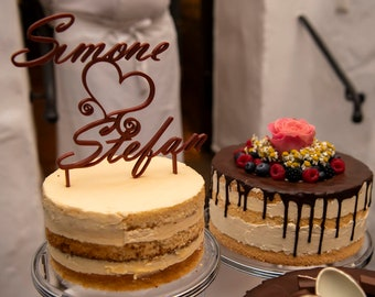 Individual cake topper with your name