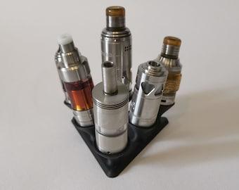 Evaporator Stand - Stand for Ecigarettes - Vape Atty Stand 3D Printed - Stand for 6 Atty- Stand for 6 Evaporators Triangular