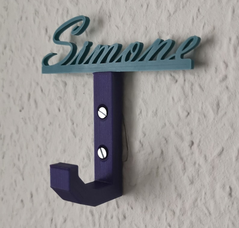 Individual coat hook for children with name lettering  ideal image 0