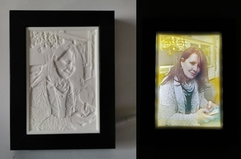 Color lithophane from own photo  Colorlithophane  in wooden image 0