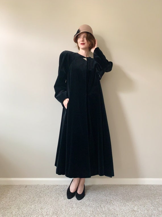 Long Black Velvet Opera Coat | Coats by Cattiva 19