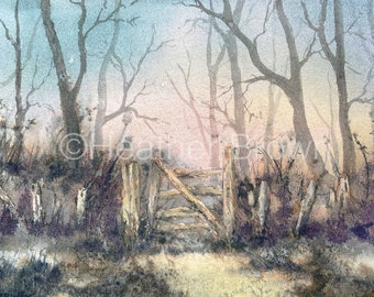 Signed Limited Edition Print Watercolour Landscape - UK Artist Heather Brown - Wall Decor - Gift