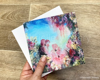 Flower Greeting Card - Gift - Special Occasion - Birthday - Perfect for Any Occasion - Blank for your message