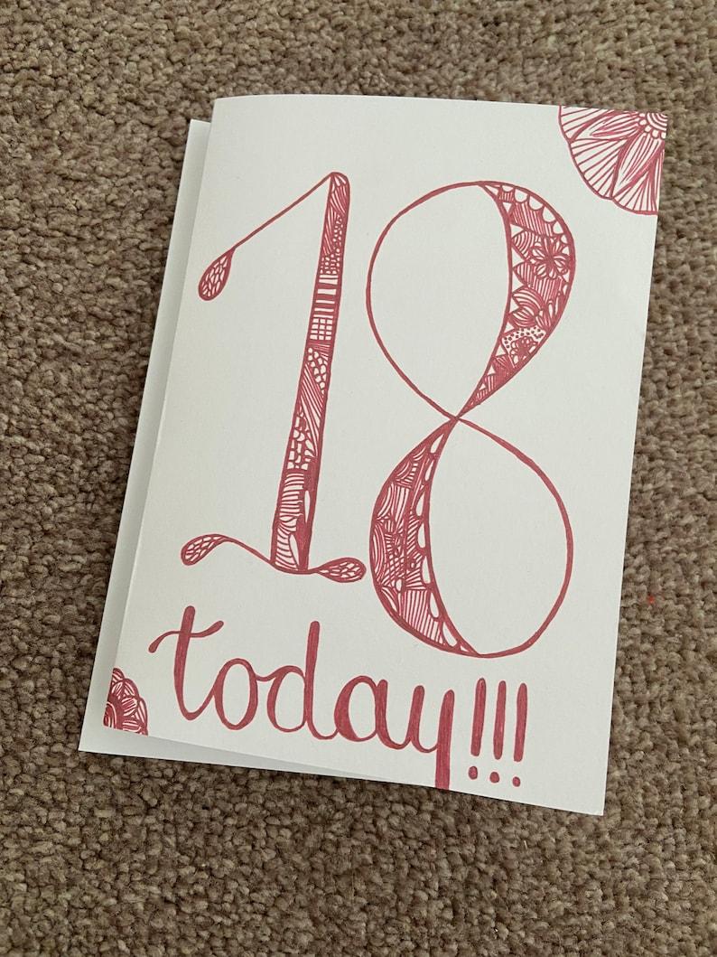 18 birthday card