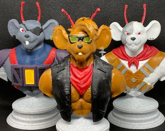 Biker Mice from Mars loose action figure-Touchdown Modo