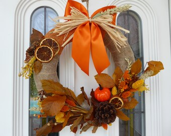 Fall/Halloween decoration, door crown, wall crown, hanging crown LIMITED EDITION