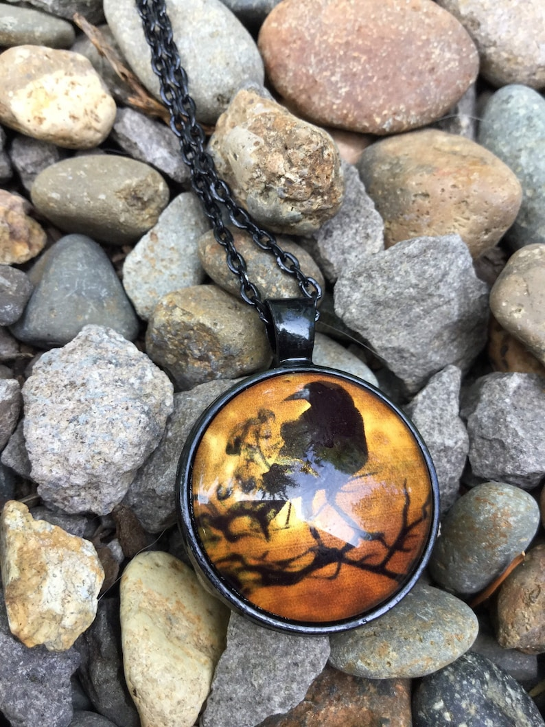 UpriverStudios Mysterious Cool Crow Necklace