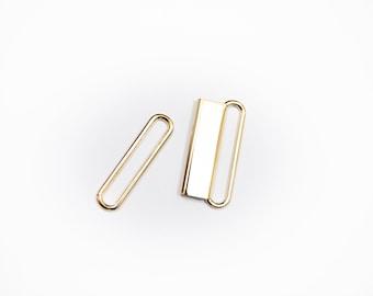 """2"""" gold buckles - 2 piece belt buckle clasp - wholesale"""
