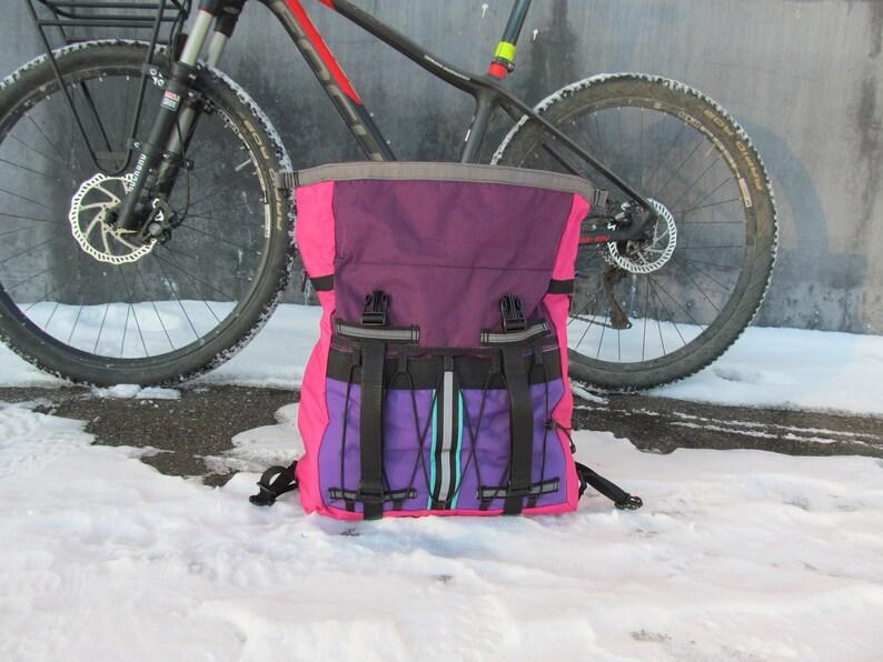 handlebar bag violet pink bag front bike bag gravel bag bike bag gecustomworkshop Bike handlebar bag