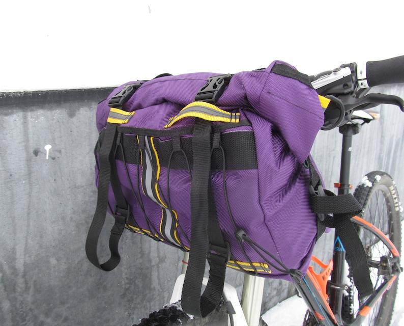Bike handlebar bag handlebar bag gecustomworkshop gravel bag front bike bag violet yellow bag bike bag