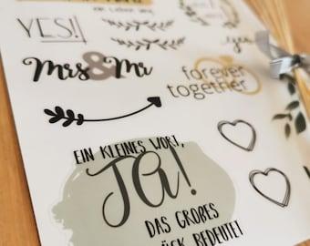 8 Sheets A5 Sticker Wedding Guestbook / Photo Album / Gifts / DIY / Card