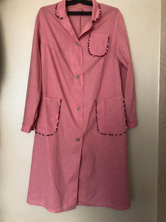 Soviet Work Jacket, pink robe, Russian Uniform wor