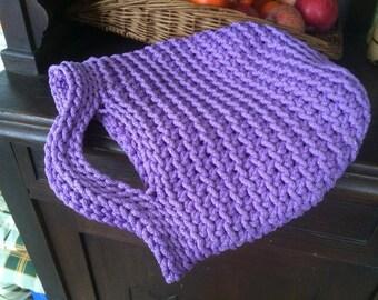 Tote Bag for women Handmade Eco friendly   Purple Color  Crochet Bag