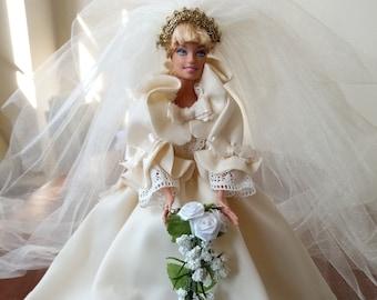 Diana Wedding Doll Etsy