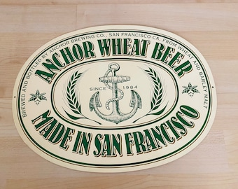 ANCHOR BREWING Christmas METAL TACKER SIGN craft beer brewery Steam SAN FRANCISC