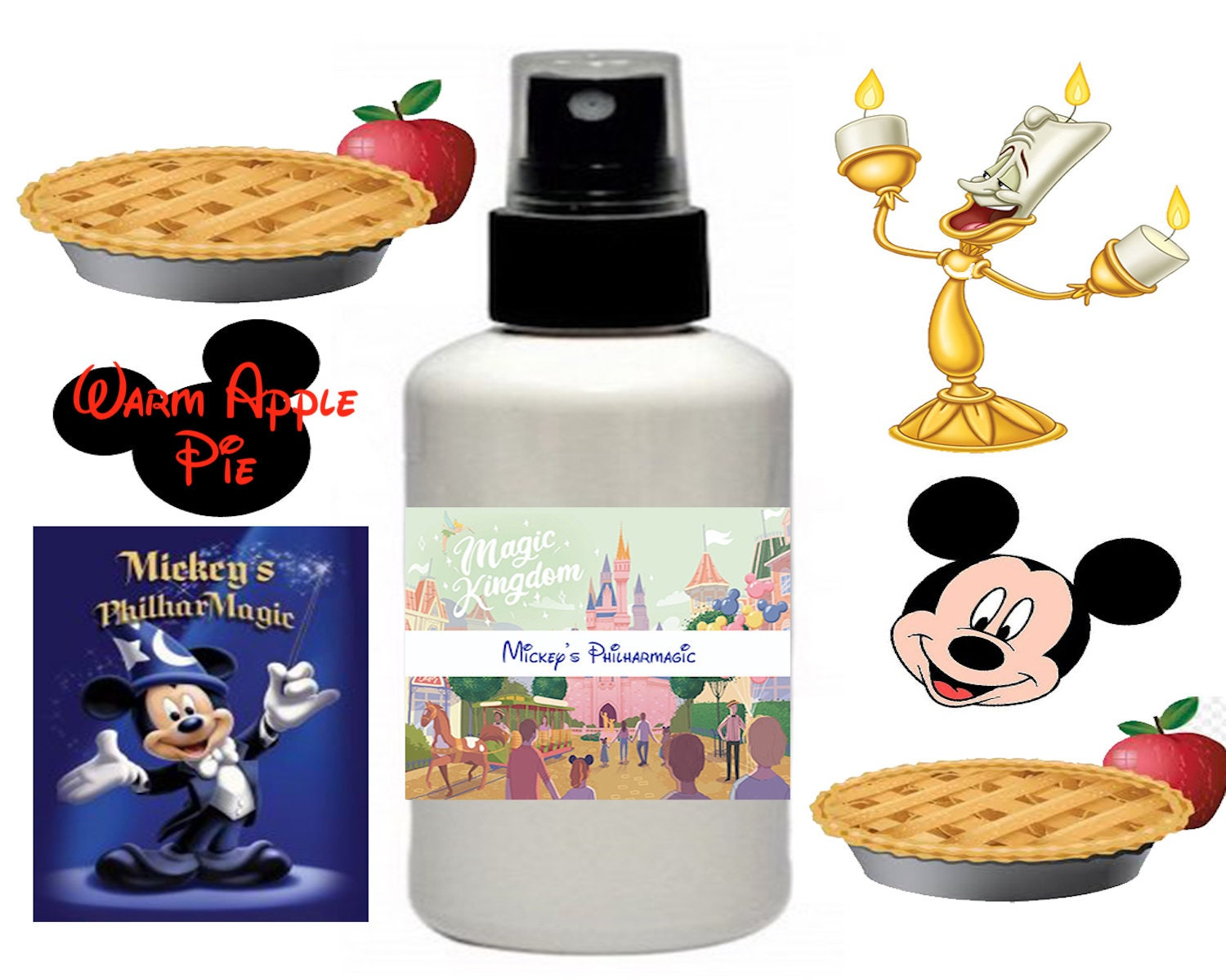 Mickeys Philharmagic Warm Apple Pie Fragrance 2 oz Room Spray