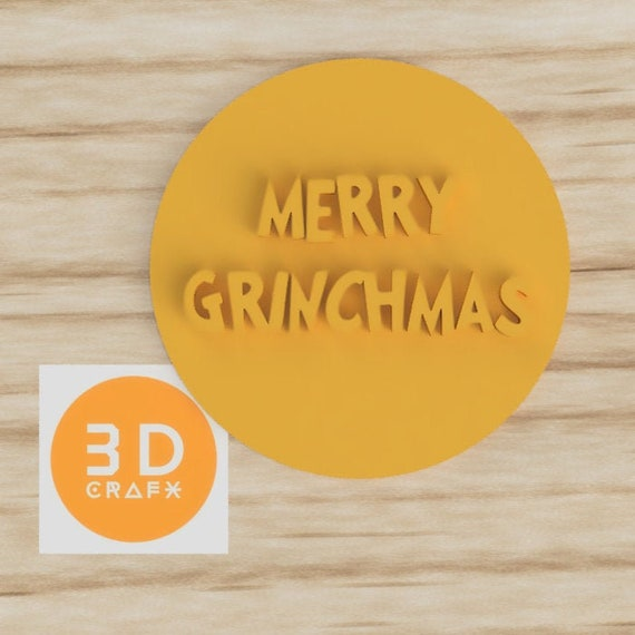 Merry Grinchmas Cookie Embosser and Fondant Stamp in Christmas theme
