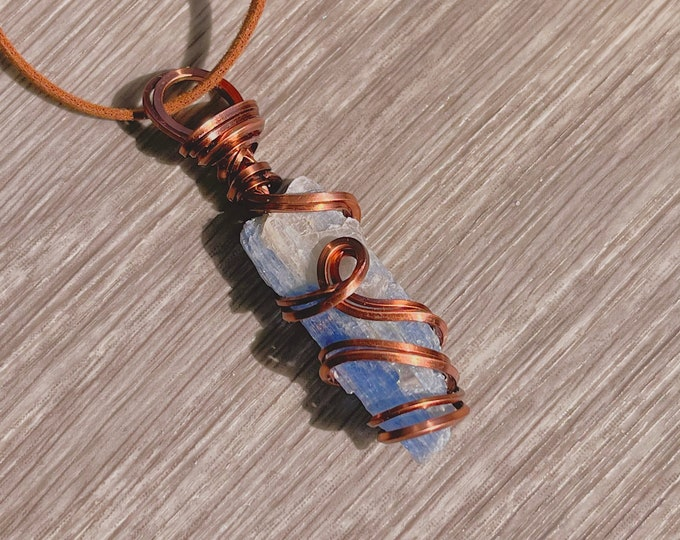 Metaphysical Jewelry Blue Kyanite Shard Necklace