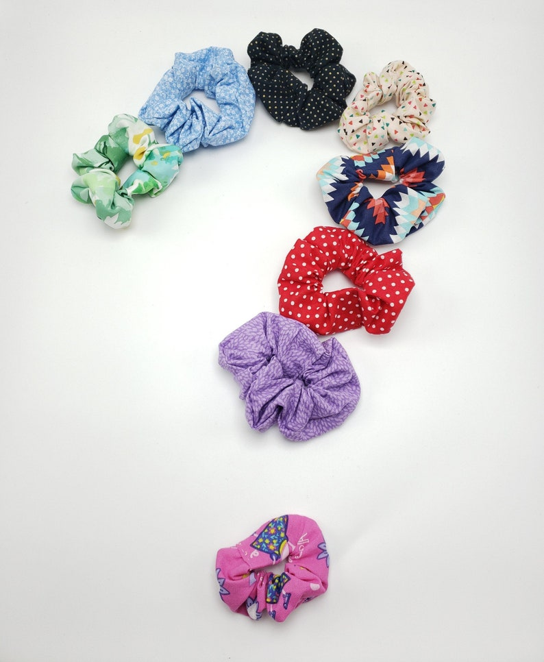 Pack of 2 2 for 5 Mystery Scrunchies Handmade Cotton Scrunchies