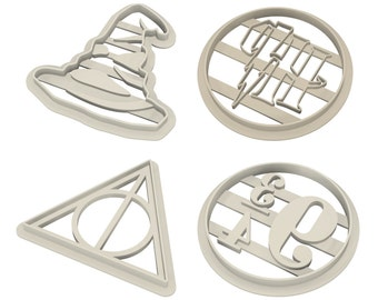 Harry Potter Cookie Cutters, Fondant Singles and Set 3d Printed 8cm / 6cm