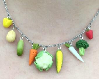 Carrot Necklace Food Jewelry Carrot Pendant Vegetable Necklace Carrot Charm Vegetarian Jewelry Miniature Food Vegan Jewelry