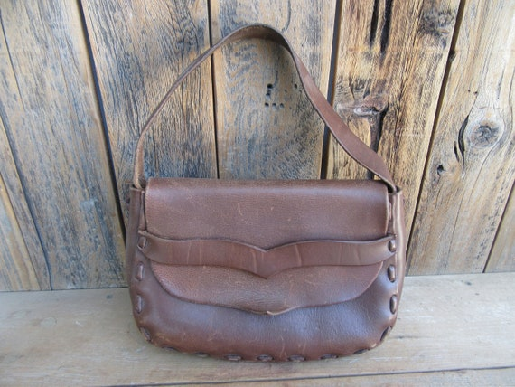 Vintage 70s Handcrafted Leather Purse | Henry VIII