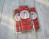 Pomegranate Noir Highly Scented Wax Melts, Wax Melt Snap Bars, Clamshell