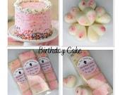 Birthday Cake Wax Melts Wax Melts Scented 100 Soy Wax Home Fragrances Snap Bar Waffle Hearts