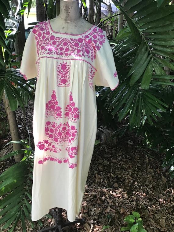 Vintage Mexican maxi dress